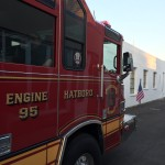 fire truck exiting